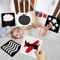 Carte Flash Montessori pour bébé de 0 à 36 mois, jouet éducatif, noir et blanc, Stimulation visuelle