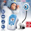 """Moniteur vidéo sans fil LCD 1.5 """"/1.8"""" pour bébé, caméra de sécurité pour nounou, couleur, Vision"""