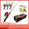 Ensemble de cannes à pêche pour enfants, Kits complets avec canne à pêche télescopique et moulinet