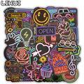 Stickers fluorescents à motif dessin animé jeu pour enfant, autocollants étiquettes à mettre sur