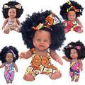 Poupée renaissante noire, cheveux afro, 30cm, 12 pouces, poupée pop boneca, en silicone complet,