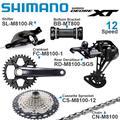 SHIMANO DEORE – ensemble de vitesses 1x12 rapports XT M8100, 1x12 rapports RD CS CN, dérailleur