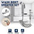 Pulvérisateur à main pour Bidet de toilette, 4 pièces/ensemble, ensemble de pistolets de douche,