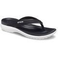 Crocs Black Women's Capri V Sporty Flip Shoes