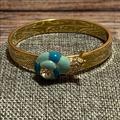 Kate Spade Jewelry | Kate Spade Rare June Bug Enamel Snail Bangle | Color: Blue/Gold | Size: Os