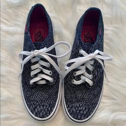 Vans Shoes   Blue Snake Skin Print Vans   Color: Blue/Gray   Size: 7