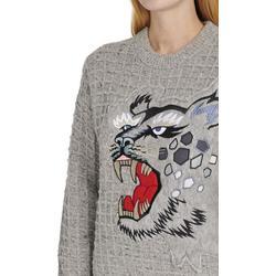 X Kansaiyamamoto - Embroidered Jumper - Gray - KENZO Knitwear