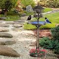 JLMS 3-in-1 Outdoor Pedestal Bird Bath Garden Décor Feeder Planter Resin Freestanding-Bird Bath-Bird Baths for Outdoors-Big Bird-Hanging Bird Baths for Outdoors-Bowl Bird Baths-Bird Bath Stand