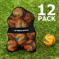 FORZA Soccer Balls & Carry Bag [Pack of 12] | 12 Soccer Balls with Mesh Storage Bag Included | Variety of Soccer Ball Types for Matches & Training (Size 4, Training Soccer Balls)