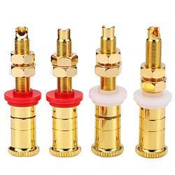 GUONING-L Pure Copper Speaker Plug Socket HiFi Audio Speaker Amplifier Terminal Binding Post Banana Plug Socket Electronics