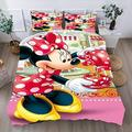 Minnie Mouse Bed Set Bedding Set King Duvet Cover for Teens Tollders Boys Girls Kids Minnie Mouse Qulit Set Bedding Cover