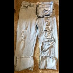 Levi's Jeans   Fabulous Real-Life Distressed Red Tag Levis!   Color: Red   Size: 36