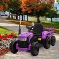 "Tobbi kids Ride On Tractor Battery Powered Electric Car & Truck, Plastic in Purple, Size 75"" L x 20"" W x 21"" H | Wayfair TH17L1673-W04"