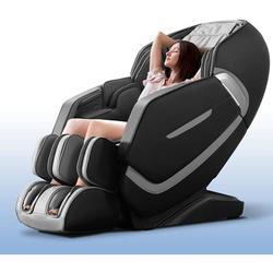 Inbox Zero Massage Chair Recliner, Full Body Massage Chair w/ Thai Stretch, Zero Gravity, Bluetooth Speaker, Airbags, & Thai Foot Massage in Black