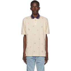 Graphic-print Stretch-cotton Piqué Polo Shirt - Natural - Gucci T-Shirts