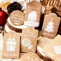 DIY Christmas Gift Tags Stamp Label Party Paper For Writing With Twine String-Paper gift tags-Gift labels -Package name card-Hang tags-Gift wrap tags-Bag tags-Tags for handmade items-Present gift tags