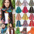 Écharpe longue en Voile imprimé Floral pour femmes, style Boho, pour dames, joli châle, grande étole
