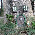 Miniature Fairy elf Home Door and Windows, Darkduke Gnome Home Miniature Window and Door, Tree Hugger Garden Sculpture Decoration Outdoor Yard Art Ornaments Mystical Fairy Door House Window