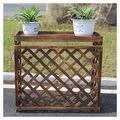 Solid Wood Air-Conditioning Flower Stand Anti-Corrosion Outside Machine Rack Protection Fence Shutter Grille Outdoor Balcony Plant Storage Rack Decoration