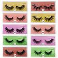 3D Mink Eyelashes 10/20/30/50/100 Pairs Wholesale Faux Lashes Natural False Eyelashes Makeup Thick Mink Eyelashes (mixed 100 pairs)