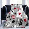"""Janrely Ultra-Soft Micro Fleece Blanket,Poker Casino,Home Decor Warm Throw Blanket for Couch Bed,80""""X 60"""""""