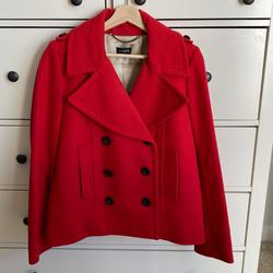 J. Crew Jackets & Coats   J Crew Maraschino Red Pea Wool Coat   Color: Red   Size: 6