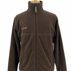 Columbia Jackets & Coats   Columbia Mens Casual Outdoor Soft Fleece Full Zip   Color: Brown/Green   Size: M