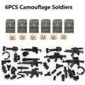 Pistolet de soldat russe moderne MOC SWAT, 6 pièces, figurines playmobil, blocs de construction,