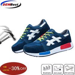 Chaussures de sécurité pour hommes 35 ~ 46, chaussures de travail à bout en acier, plates,