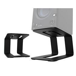 HumanCentric Desktop Speaker Stands Pair for Desk Speakers, Studio Speaker Riser, Medium and Small Bookshelf Speakers, Studio Monitor Stand, Computer Gaming Desk Speaker Stand, (Black)