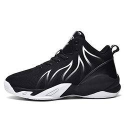 2021 Summer New Men's Shoes Casual Basketball Sports Shoes Woven Fabric Large Size Trendy Shoes Running Shoes Student Men's Shoes (Black,9.5)