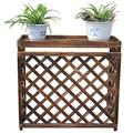 Air Conditioner Outside Machine Flower Stand Wooden Anticorrosive Plant Rack Guard Rail Shutter Grille Outdoor Balcony Decoration
