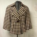Nine West Jackets & Coats | Houndstooth Spring Jacket Size 12 Nine West | Color: Brown/Tan | Size: 12