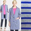 Kate Spade Jackets & Coats | Kate Spade Oversized Scuba Stripe Knit Coat M | Color: Blue/Gray | Size: M