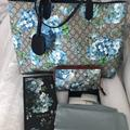 Gucci Bags   Gucci Blue Reversible Blooms Tote One Size   Color: Blue   Size: Os
