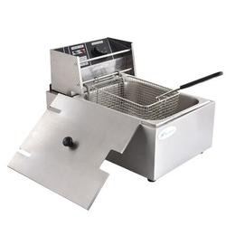 Houssem 8L Deep Fryer Stainless Steel Electric Countertop Fryer For French Fries Fish Turkey Restaurant Kitchen Stainless Steel in Gray | Wayfair
