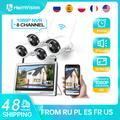 HeimVision – Kit de caméra de sécurité sans fil HM243 1080P, moniteur LCD 12 pouces, 8 canaux NVR, 4