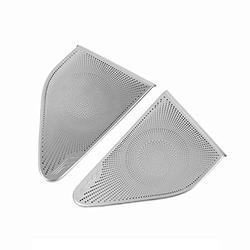 SEADEAR Car Speaker Cover Car Door Stereo Speaker Cover Trim Car Stainless Steel Horn Protective Cover for Model 3 Car Accessories Car Audio Speaker Stereo Tweeter Cover Sticker