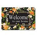 "Doormat Funny Front Door Mat- Welcome to Our Home Funny Front Mat Mat Kitchen Door Mat Bath Mats Rubber Non Slip Backing Funny Doormat for Outdoor/Indoor Uses 23.6""(W) X 15.7""(L)"