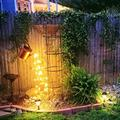 Assletes Outdoor Lights Lighting Garden Art Light Decoration LED Lamp for Yard Button Battery Powered Durable Used for Lighting and Beautifying The Garden