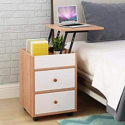 Storage Cabinet Bedroom Bedside Removable Locker Lifting Table Nightstand End Table Nightstand Bedroom Table Nightstand with Drawer (Yellow)