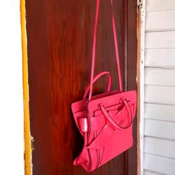 Kate Spade Bags | Kate Spade Bow Patent Leather And Leather Bag | Color: Pink | Size: Os