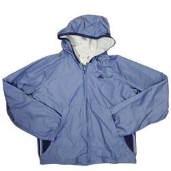 Adidas Jackets & Coats   Adidas Blue Full Zip Lined Track Wind Jacket Hood   Color: Blue   Size: M