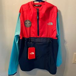 The North Face Jackets & Coats | Girls The Northface Rain Wind Breaker | Color: Blue/Pink | Size: 1416 Youth Large