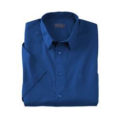 Men's Big & Tall KS Signature No Hassle Short-Sleeve Dress Shirt by KS Signature in Midnight Navy (Size 17 1/2)