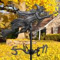 Flying Witch Garden Weathervane by Whitehall Products in Black