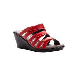 Extra Wide Width Women's Lexie Wedge Slide Sandal by Propet in Red (Size 8 WW)