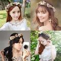Serre-tête couronne de fleurs pour femmes, accessoires pour cheveux, guirlande florale, bandeau de