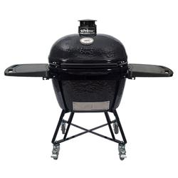 "Primo PGCXLC Oval XL 400 Mobile Charcoal Grill w/ Accessories - 18 1/2""W x 25"", Ceramic, Black (PRM7800)"