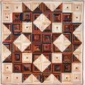 Laundry Basket Quilts, Broken Star Log Cabin - Traditional Quilt Pattern